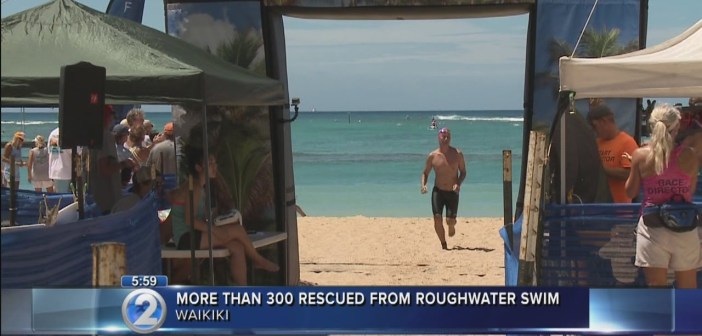 Lifeguards assist more than 300 during Waikiki Roughwater Swim