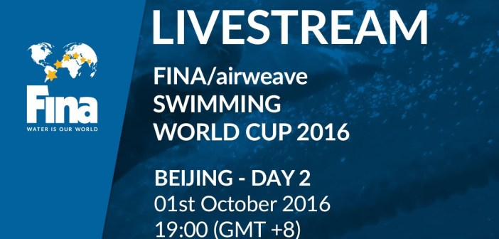 LIVE | Day 2 – FINA/airweave Swimming World Cup 2016 #4 Beijing