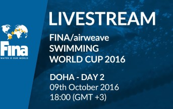 LIVE | Day 2 – FINA/airweave Swimming World Cup 2016 #6 Doha
