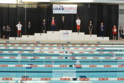 KNOXVILLE, TN - August 5, 2014: 11 and Up Platform Boys awards during the 2014 USA Diving Age Group and Junior National Event at Allan Jones Aquatic Center in Knoxville, TN. Photo By Matthew S. DeMaria