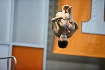 KNOXVILLE, TN - July 31, 2014: An Unknown Diver during the 2014 USA Diving Age Group and Junior National Event at Allan Jones Aquatic Center in Knoxville, TN. Photo By Matthew S. DeMaria