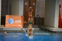 KNOXVILLE, TN - July 31, 2014: Jackson Cudmore dives from the 3 meter springboard during the 2014 USA Diving Age Group and Junior National Event at Allan Jones Aquatic Center in Knoxville, TN. Photo By Matthew S. DeMaria