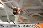 KNOXVILLE, TN - July 31, 2014: John Crow dives of the Platforms during the 2014 USA Diving Age Group and Junior National Event at Allan Jones Aquatic Center in Knoxville, TN. Photo By Matthew S. DeMaria