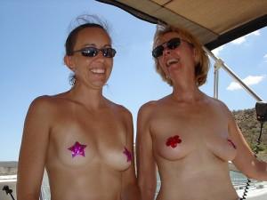 my mom topless