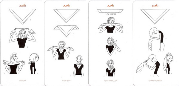 hermes  how to tie a scarf   swing fashionista