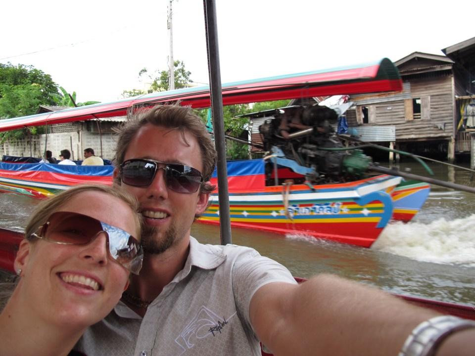 På floden i Bangkok