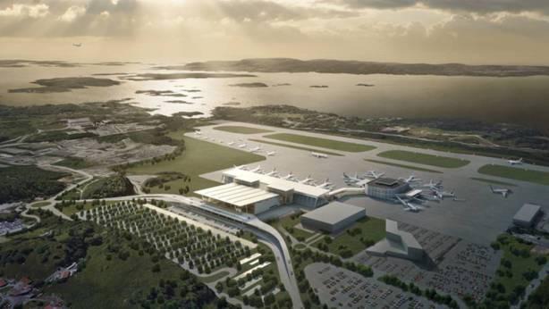 Ny flyplass i Bergen, Flesland.
