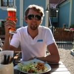 Vellfortjent pils på Biergarden i dypeste Tyskland