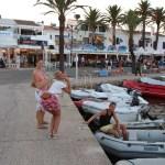 Kveldskos i havn på Mallorca.