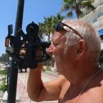 Bobby holder solnavigasjonskurs med sekstanten