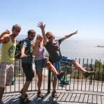Gibraltarstredet og Afrika i bakgrunnen! Atlanterhavet, here we come!