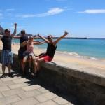 Første dag på Puerto Santo! Herlig hvit sandstrand!