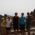 Gran Canarias høyeste punkt i bakgrunn. Crew på tur!