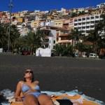 Sort sand på San Sebastians strand :) Deilig!