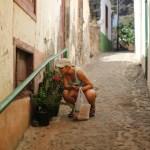 Gatelangs i en av Gomeras flotte byer