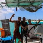 Etter tre uker på Spinnvill setter Daniel snuta hjemover. Trist med avskjed. Vært topp å ha en som kan masse båt fra før ombord :)