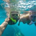 Snorkling på skipet Andes i Deep bay, Antigua