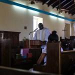 Flott preken av biskopen som holdt messe for anledningen