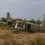 Et fly som egentlig skulle lette den dagen revolusjonen skjedde på Grenada. Som dere ser ble det forlatt.