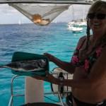 Den lokale fiskeren forsyner oss med tunfisk
