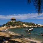Stranden San Juan - målet for jungelvandringen vår.