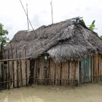Typisk indianer-hus