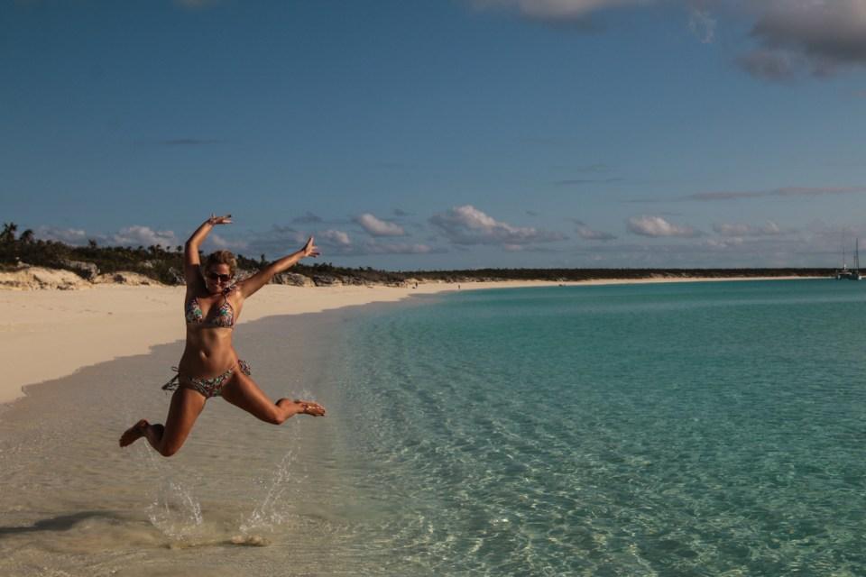 Fornøyd XO på et helt klart favorittsted i Karibien.