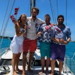 Mannskapet er strålende fornøyd med en finfin feiring på Bermuda.