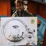 Jose har laget den råeste logoen til Idun sin Atlanterhavskryssing