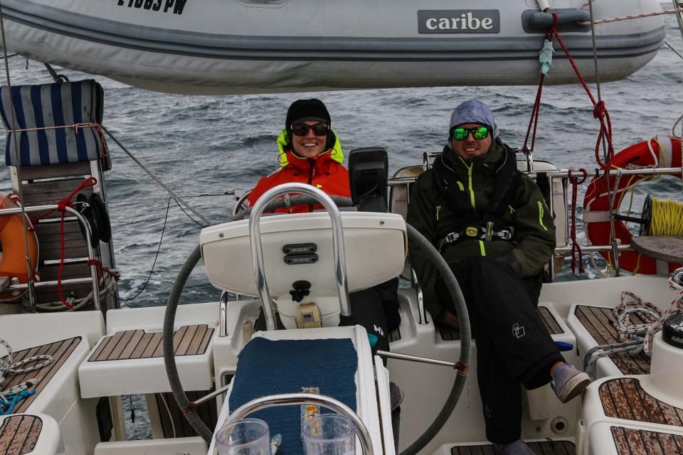 Vaktlaget - happy sailors :)