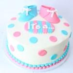 Baby+Bootie+Gender+Reveal+Cake
