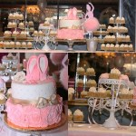 Pink+Ballerina+Baby+Shower+Cake+Dessert+Table