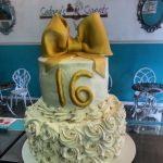 All_White_Sweet 16_No_Fondant_Party_Cake_Sydneys_Sweets
