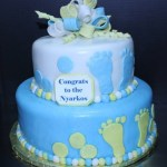 Baby Footprint Baby Shower Cake
