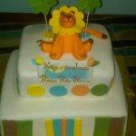 Baby Lion Baby Shower Cake