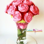 Floating Rose Cupcake Bouquet