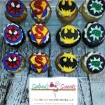 Spider_Man_Super_Man_Batman_Incredible_Hulk_Super_Hero_Custom_CupCakes_Sydneys_Sweets