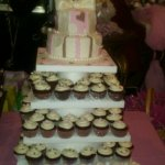Cupcake Tower Baby Shower Cake
