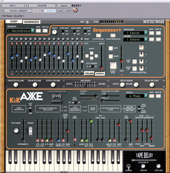 KikAxxe Arp Axxe virtual synthesizer