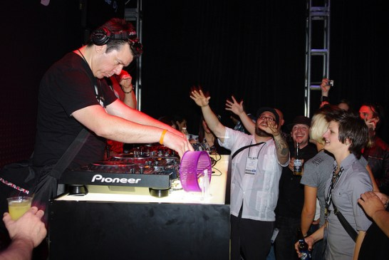 Scott Kirkland of The Crystal Method at NAMM 2001