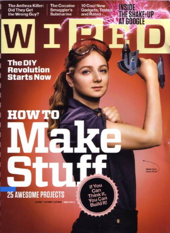 Limor Fried on the cover of Wired