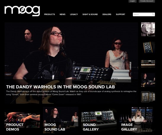 Moog Music website