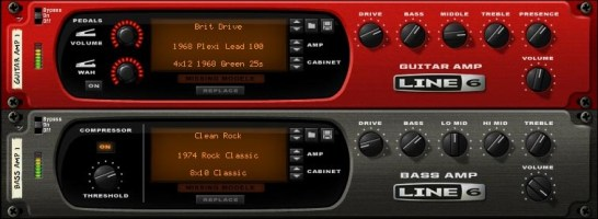 Line 6 guitar and bass amps