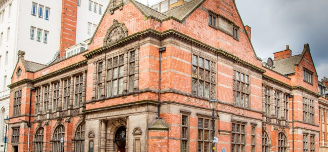 The original Birmingham Library founded in 1779 in Union Street was transported to here, corner of Cornwall Street and Margaret Street in 1899. It now houses the Birmingham and Midland Institute.