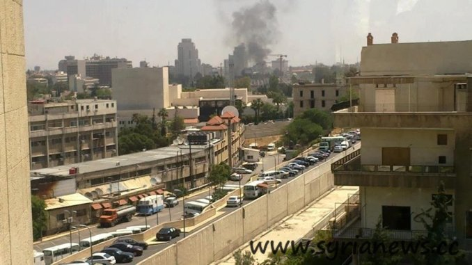 Bomb explosion near Damascus Tower