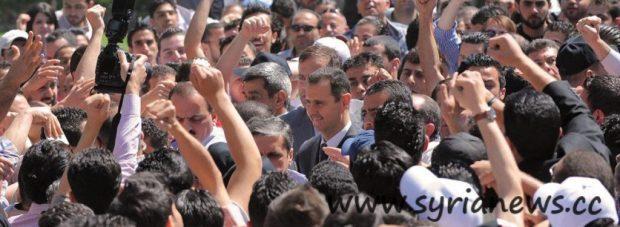 President Assad at Damascus University