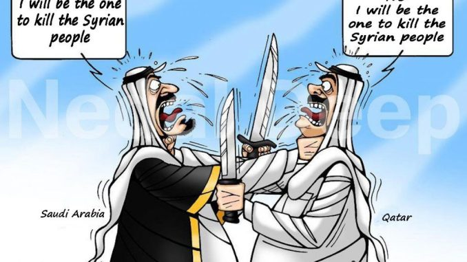 Qatar KSA Competing on Killing Syrians