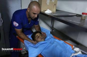 Body of 12 year old Mohiyeh el Tabakhi, martryed in al Ram