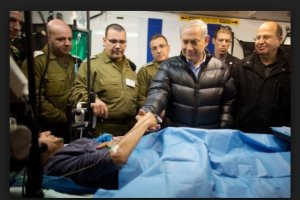 Netanyahu visits al Qaeda terrorists getting free wound care in IDF units in the Occupied Golan