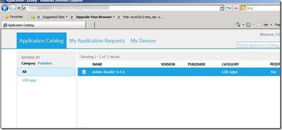 sccm 2012 application catalog